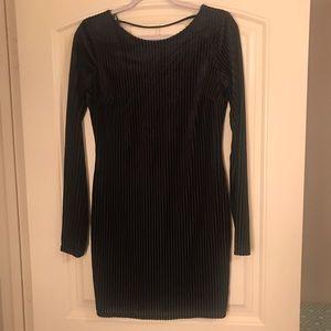 Black Swede long sleeve dress.